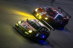 #30 NGT Motorsport Porsche 911 GT America: Henrique Cisneros, Christina Nielsen, Nicki Thiim, Kuba Giermaziak, #64 Scuderia Corsa Ferrari 458 Italia: Rod Randall, John Farano, Ken Wilden, David Empringham