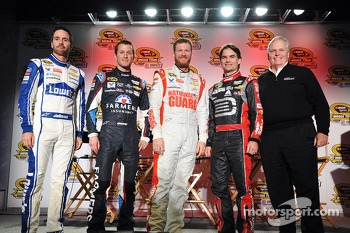 Jimmie Johnson, Kasey Kahne, Dale Earnhardt Jr., Jeff Gordon and Rick Hendrick