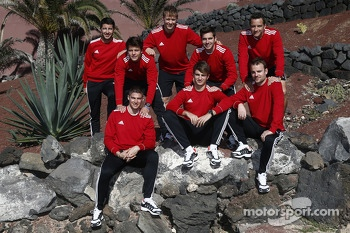 DTM Audi drivers group photo