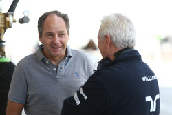 (L to R): Gerhard Berger, with Pat Symonds, Williams Chief Technical Officer