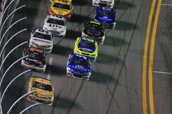Kyle Busch, Joe Gibbs Racing Toyota leads
