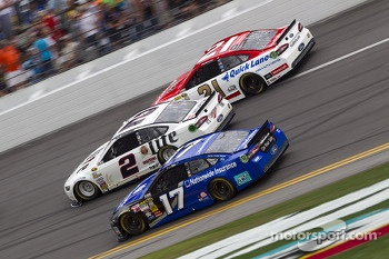 Ricky Stenhouse Jr., Brad Keselowski and Trevor Bayne