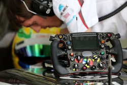 Steering wheels of the Sauber F1 Team