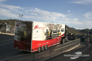 Hauler enters the track