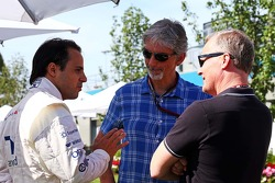 Felipe Massa, Williams with Damon Hill, Sky Sports Presenter and Johnny Herbert, Sky Sports Presenter