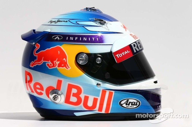 Sebastian Vettel Helmet 2014 The helmet of Sebastia...