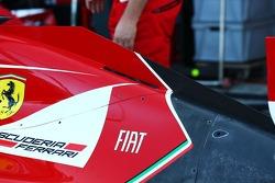 Ferrari F14-T engine cover detail