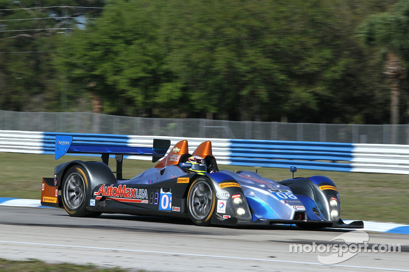 #08 RSR Racing ORECA FLM09: Chris Cumming, Alex Tagliani, Rusty Mitchell
