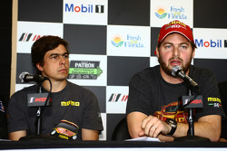 Eduardo Cisneros and Henrique Cisneros at the Motorsport Safety Foundation press conference