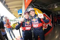 Polesitters Caca Bueno and Juan Manuel Silva