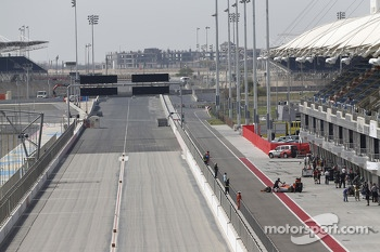 The GP2 pit lane and Bahrain Drag Strip