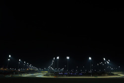 The circuit under floodlights at night