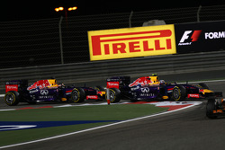 Sebastian Vettel, Red Bull Racing RB10 and Daniel Ricciardo, Red Bull Racing RB10