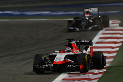 Jules Bianchi, Marussia F1 Team MR03 and Adrian Sutil, Sauber C33