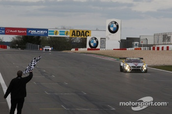 Maxime Martin, Uwe Alzen, Marco Wittmann, BMW Sports Trophy Team Marc VDS, BMW Z4 GT3 takes the win