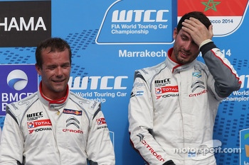 2nd position Sébastien Loeb, Citroën C-Elysee WTCC, Citroën Total WTCC and Jose Maria Lopez, Citroën C-Elysee WTCC, Citroën Total WTCC race winner