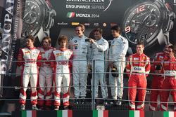 Pro-Am podium: Stéphane Comandini, Eugenio Amos, Stefano Colombo