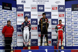 Podium: race winner Esteban Ocon, second place Nicholas Latifi, third place Antonio Fuoco