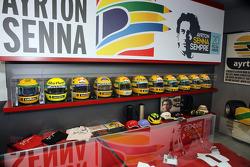 Senna Museum Helmets