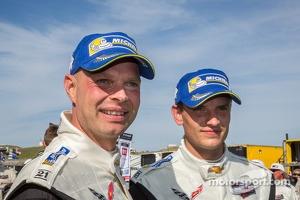 GTLM class winners Jan Magnussen, Antonio Garcia