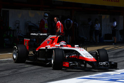 Jules Bianchi, Marussia F1 Team MR03 leaves the pits