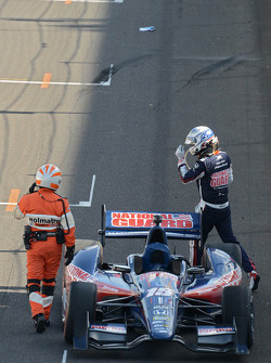 Graham Rahal, Rahal Letterman Lanigan Racing after the start crash