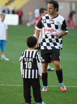 Felipe Massa, at the charity football match