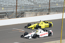 Simon Pagenaud, Schmidt Peterson Hamilton Motorsports Honda and Jacques Villeneuve, Schmidt Petersen Racing