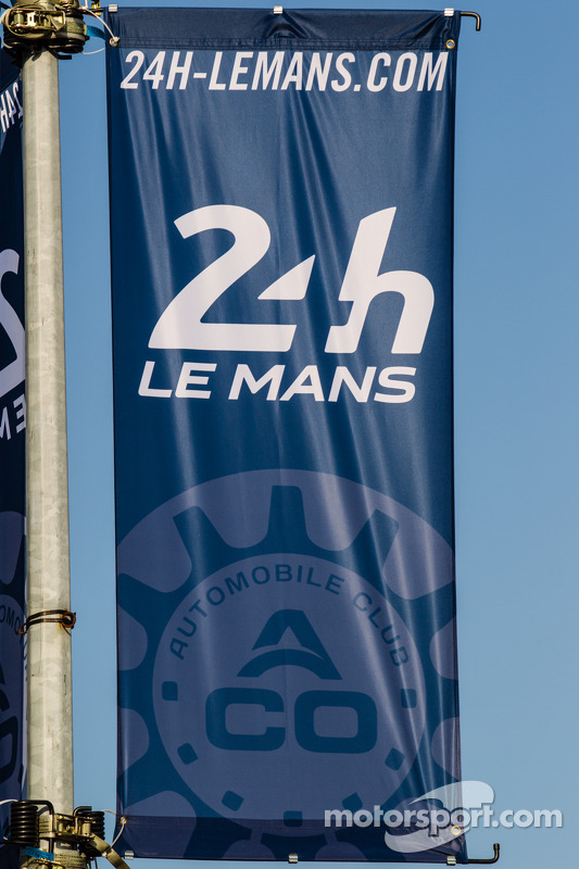Signage for the 24 Hours of Le Mans