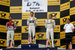 Podium,  2nd Miguel Molina, Audi Sport Team Abt Audi RS 5 DTM, 1st Marco Wittmann, BMW Team RMG BMW M4 DTM, 3rd Bruno Spengler, BMW Team Schnitzer BMW M4 DTM and Stefan Reinhold , BMW Team RMG