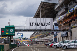 The calm before the storm: Le Mans pitlane in the week before the big event