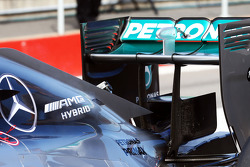Mercedes AMG F1 W05 rear wing detail