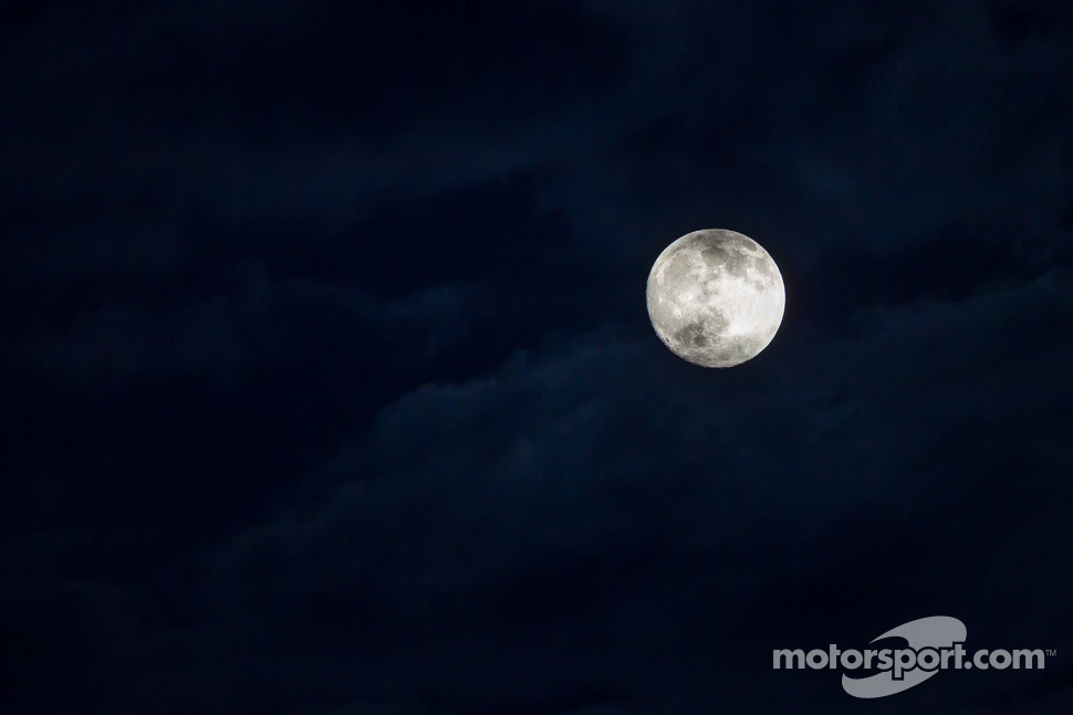 Full moon at Le Mans on Wednesday, along with a few red flags