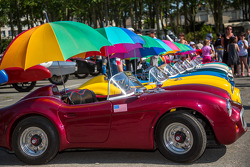 Kid cars all in a row
