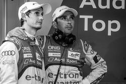 Oliver Jarvis and Benoit Tréluyer after the crash of the #3 Audi Sport Team Joest Audi R18 E-Tron Quattro