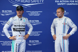 Nico Rosberg, Mercedes AMG F1 W05 and Valtteri Bottas, Williams FW36