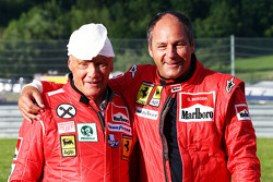 Niki Lauda, Mercedes Non-Executive Chairman with Gerhard Berger (AUT)