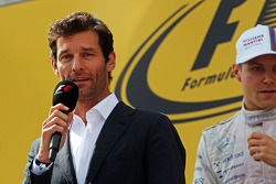Mark Webber, Porsche Team WEC Driver on the podium