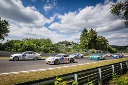 Start: #87 Bonk Motorsport BMW M3 GT4: Axel Burghardt, Michael Bonk, Jens Moetefindt, Andreas Möntmann and #172 Mathol Racing Porsche Cayman S: Claudius Karch, Kai Riemer