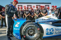 INDYCAR: Juan Pablo Motoyta celebrates pole