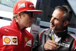 Kimi Raikkonen, Ferrari with Beat Zehnder, Sauber F1 Team Manager
