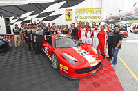 Team celebration for #777 Ferrari Quebec Ferrari 458: Emmanuel Anassis