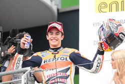 Podium: race winner Marc Marquez