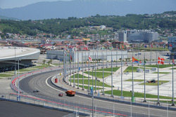 Construction continues at the Sochi Autodrom