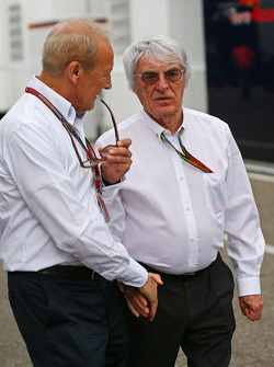 Bernie Ecclestone, with Manfred Zimmerman, CMG