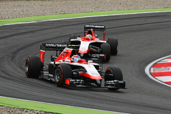 Max Chilton, Marussia F1 Team MR03 leads team mate Jules Bianchi, Marussia F1 Team MR03