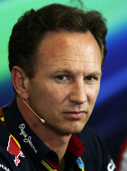F1: Christian Horner, Red Bull Racing Team Principal in the FIA Press Conference