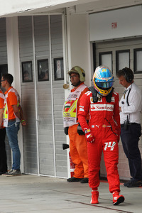 Fernando Alonso, Ferrari in qualifying parc ferme