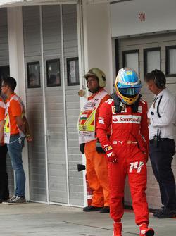 F1: Fernando Alonso, Ferrari in qualifying parc ferme
