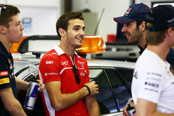 Jules Bianchi, Marussia F1 Team and Jean-Eric Vergne, Scuderia Toro Rosso on the drivers parade.